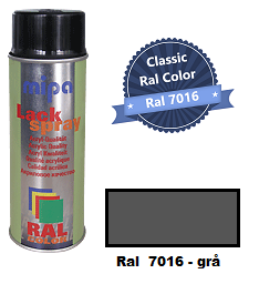 RAL 7016 Anthracite grey  - 400ML - Mipa